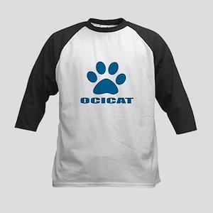 Ocicat Cat Designs Kids Baseball Tee