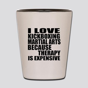 kickboxing Martial Arts Therapy Shot Glass