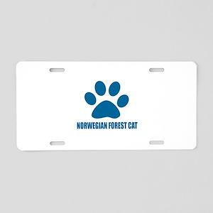 Norwegian Forest Cat Cat De Aluminum License Plate