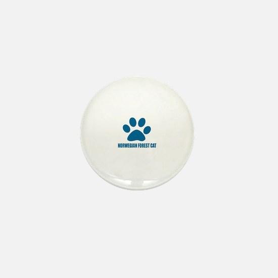 Norwegian Forest Cat Cat Designs Mini Button