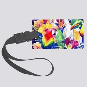 Tropical Birds Large Luggage Tag