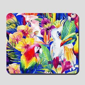 Tropical Birds Mousepad