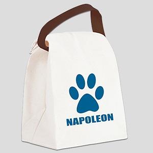Napoleon Cat Designs Canvas Lunch Bag