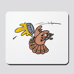 Funny Pie Face Turkey Mousepad