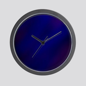 Abstract Haze (Blue) Wall Clock