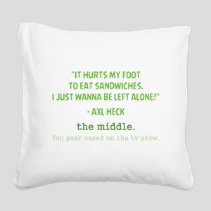 IT HURTS Square Canvas Pillow