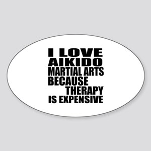Aikido Martial Arts Therapy Sticker (Oval)