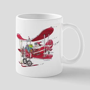 Santa Biplane Mug