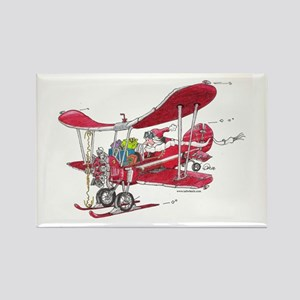 Santa Biplane Rectangle Magnet