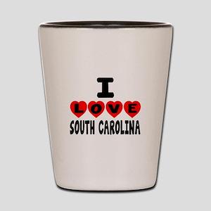 I Love South Carolina Shot Glass