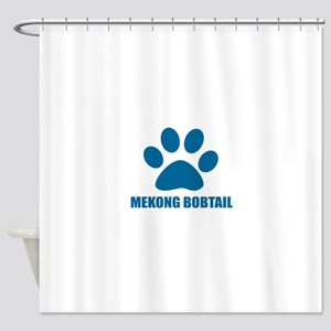 Mekong bobtail Cat Designs Shower Curtain
