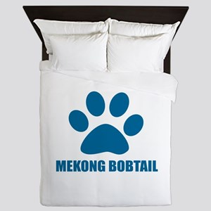 Mekong bobtail Cat Designs Queen Duvet