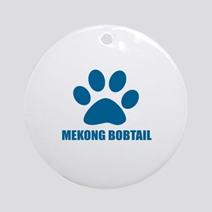 Mekong bobtail Cat Designs Round Ornament