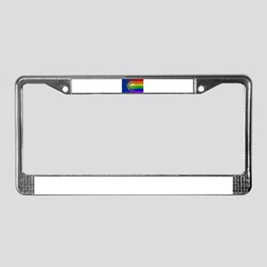 Rainbow Wall New Hampshire License Plate Frame