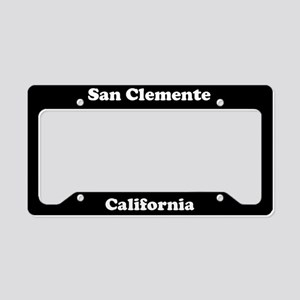 San Clemente CA License Plate Holder
