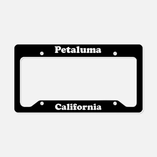 Petaluma CA License Plate Holder