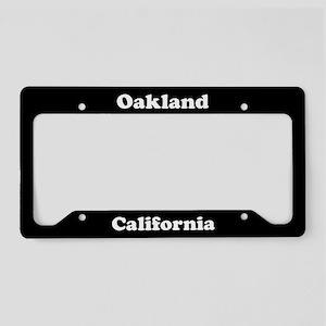 Oakland CA License Plate Holder