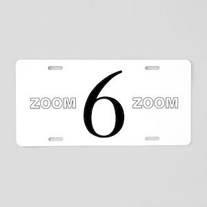 Zoom Zoom 6 Aluminum License Plate