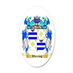 Warring Oval Car Magnet