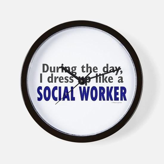 Dress Up Like A Social Worker Wall Clock