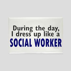 Dress Up Like A Social Worker Rectangle Magnet