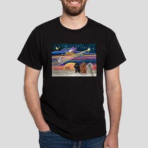Xmas Star & Poodle trio Dark T-Shirt