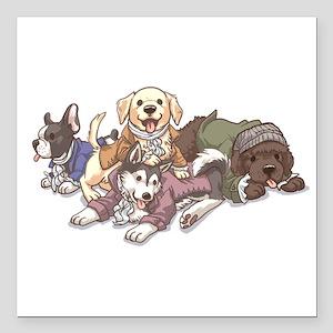 "Hamilton Musical x Dogs Square Car Magnet 3"" x 3"""