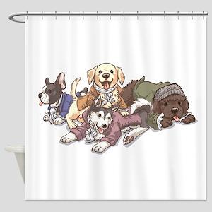 Hamilton Musical x Dogs Shower Curtain