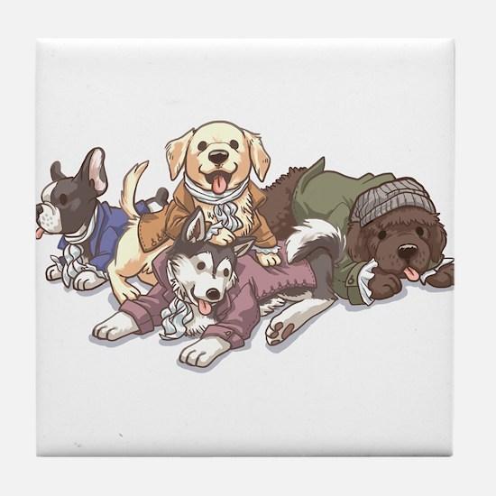 Hamilton Musical x Dogs Tile Coaster