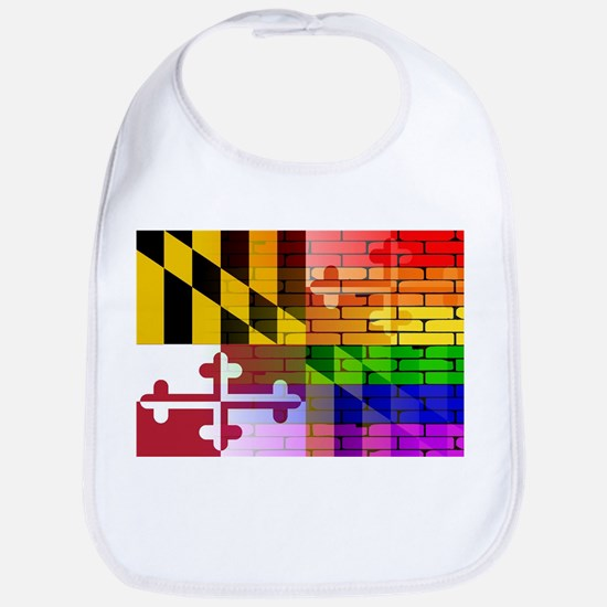 Rainbow Wall Maryland Bib