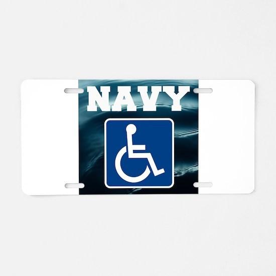 Navy Disabled Handicapped Veteran Aluminum License
