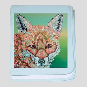 Rainbow Fox baby blanket