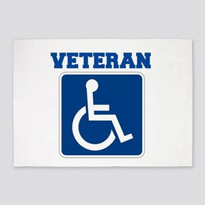 Disabled Handicapped Veteran 5'x7'Area Rug