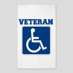Disabled Handicapped Veteran Area Rug