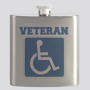 Disabled Handicapped Veteran Flask