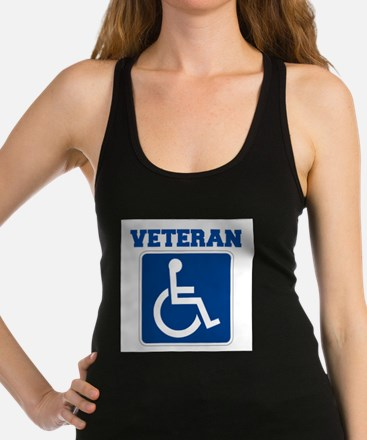 Disabled Handicapped Veteran Racerback Tank Top