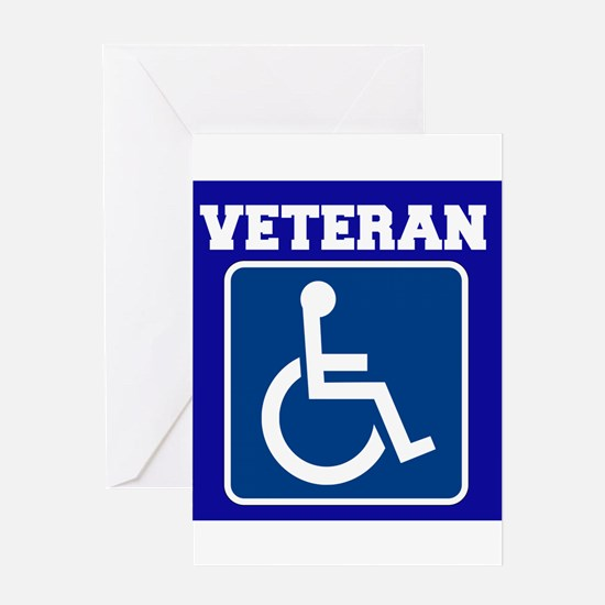 Disabled Handicapped Veteran Greeting Cards