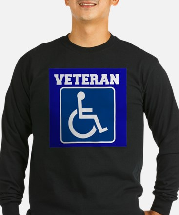 Disabled Handicapped Veteran Long Sleeve T-Shirt