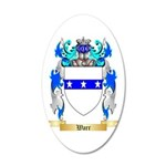Warr 20x12 Oval Wall Decal