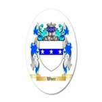 Warr 35x21 Oval Wall Decal