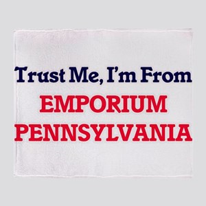Trust Me, I'm from Emporium Pennsylv Throw Blanket