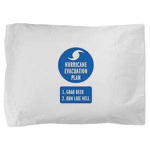 Hurricane Evacuation Plan Pillow Sham