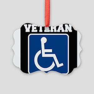 Disabled Handicapped Veteran Ornament