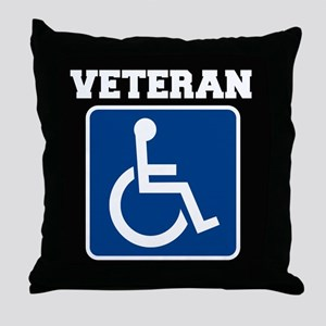 Disabled Handicapped Veteran Throw Pillow
