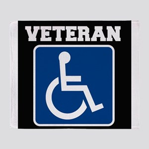 Disabled Handicapped Veteran Throw Blanket