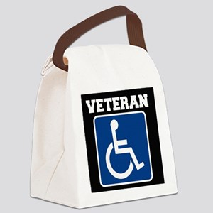 Disabled Handicapped Veteran Canvas Lunch Bag