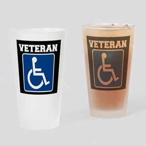 Disabled Handicapped Veteran Drinking Glass