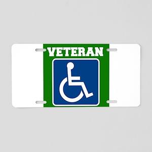 Disabled Handicapped Veteran Aluminum License Plat