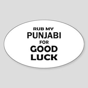 Rub my Punjabi Cat for good luck Sticker (Oval)