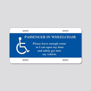 Passenger In Wheelchair Aluminum License Plate